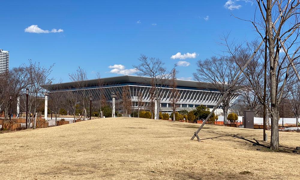 有明オリンピックアクアテックスセンター鉄骨屋根工事
